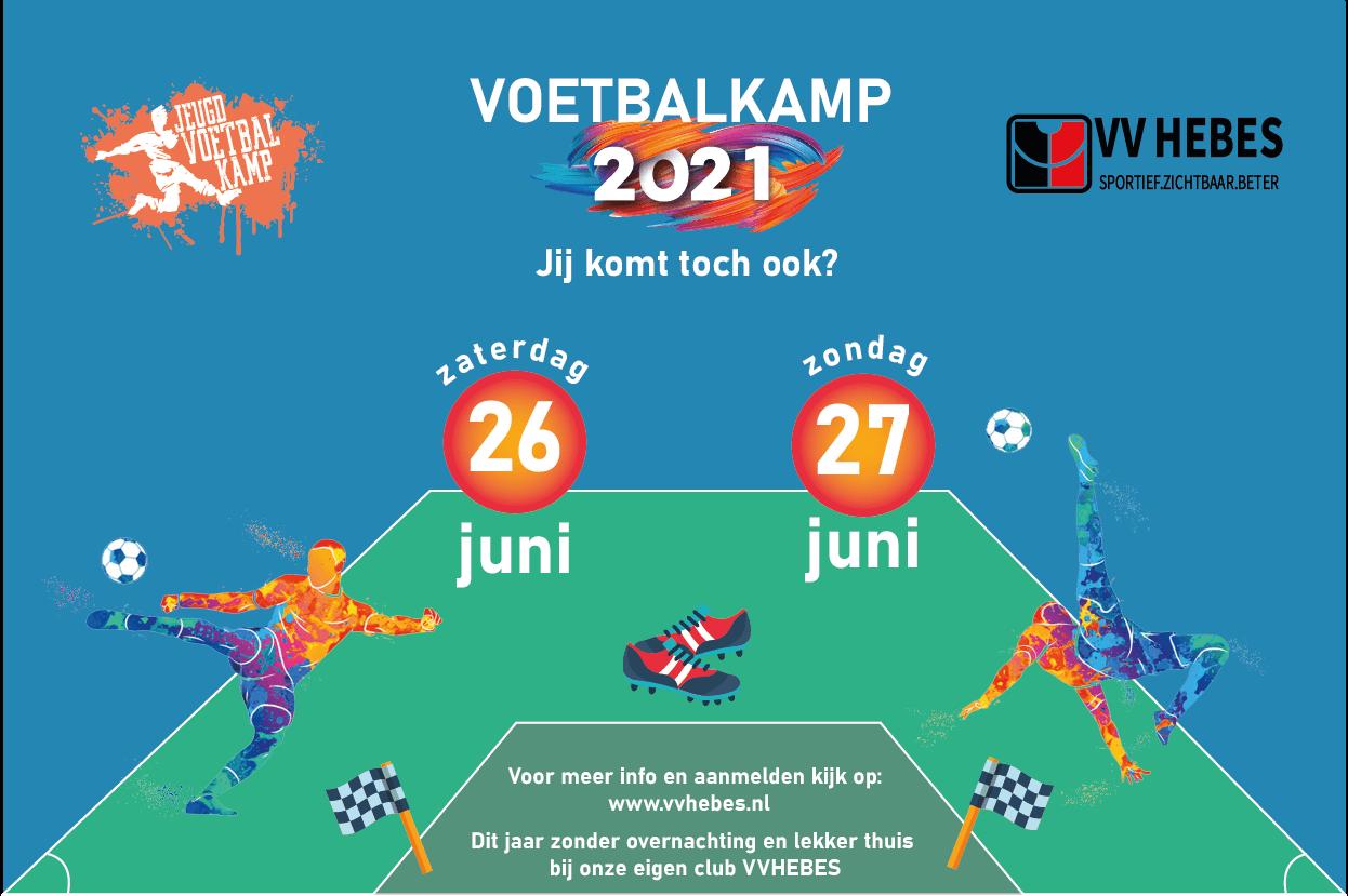 Aanvullende informatie VV HEBES Voetbalkamp 2021